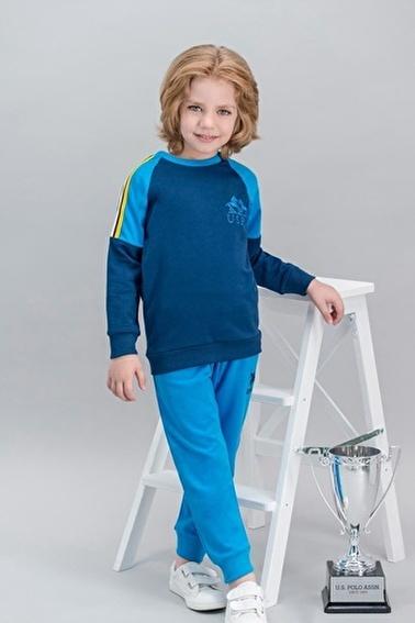U.S. Polo Assn. U.S. Polo Assn Lisanslı Sarı Erkek Çocuk Eşofman Takımı Lacivert
